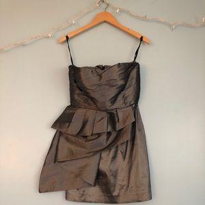 Silver Strapless Calvin Klein dress